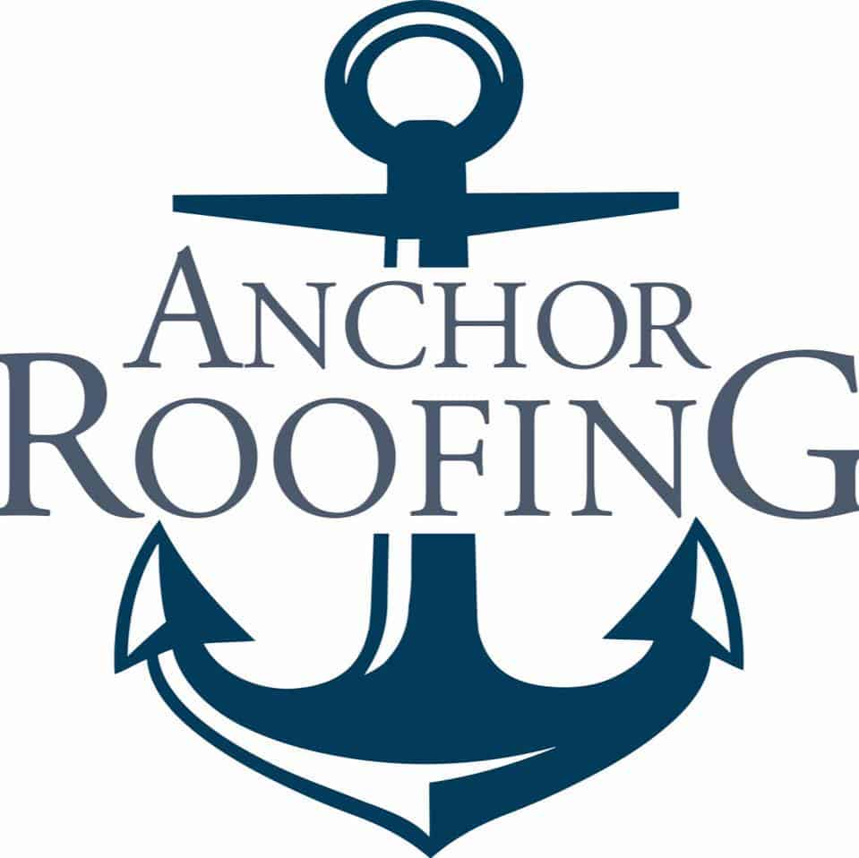 anchor roofing round logo